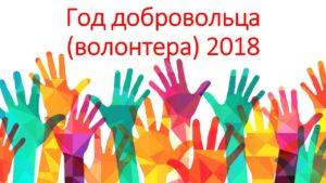 2018 - Год добровольца в России