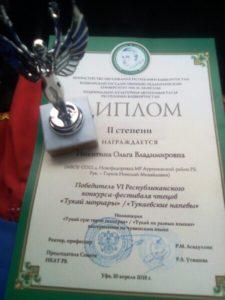 """итоги участия в """"Тукаевские напевы"""" - 2018"""