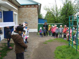 представление волонтёров в дошкольном отделении