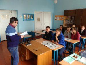 выступление Владислава Николаева перед учащимися 11 классав