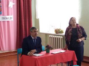 выступление представителей совета ветеранов